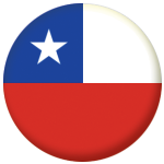 Chile Country Flag 25mm Flat Back